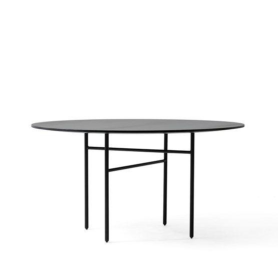 Runt matbord (138cm) - Snaregade matbord - Snaregade matbord - svart, rund