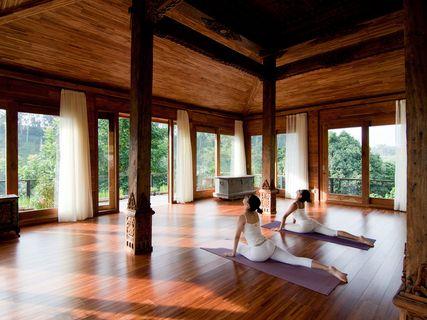 Yoga at Kamandalu, Ubud Bali.