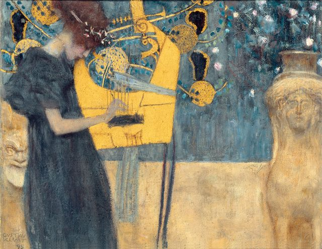Gustav Klimt, 'Music (study),' 1895, Belvedere Museum