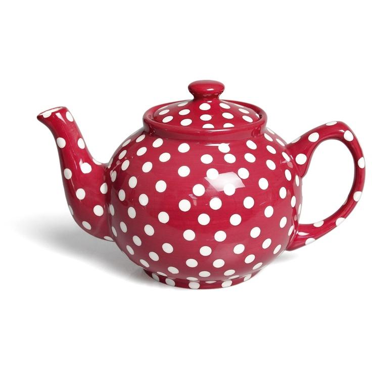 Red Retrospot Traditional Teapot
