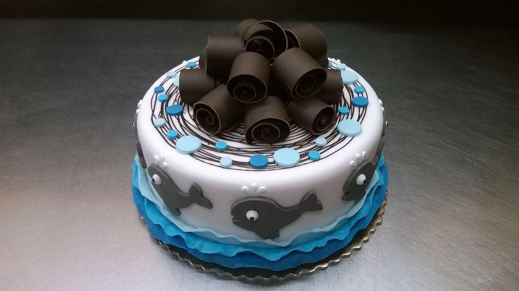 Dětský dortík pro milovníky moře a velryb.