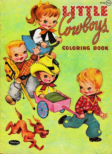Vintage Little Cowboys Coloring Book