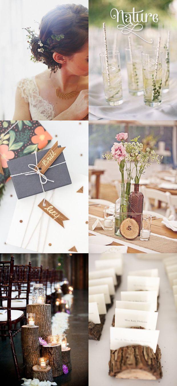 """Hochzeitstrendvorschau 2014: Trend """"Nature"""" - Holz"""