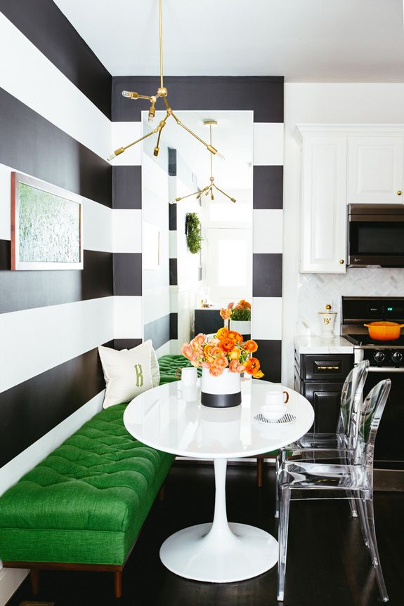 This Chic Kitchen Needs To Go In All Of Your Inspiration Folders. A Lesson  On. Breakfast Nook FurnitureBreakfast NooksKitchen ...
