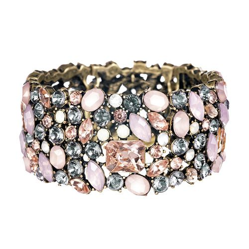 Crystal Brûlée Stone Stretch Bracelet $68  https://www.chloeandisabel.com/boutique/scrbydrearives#25414