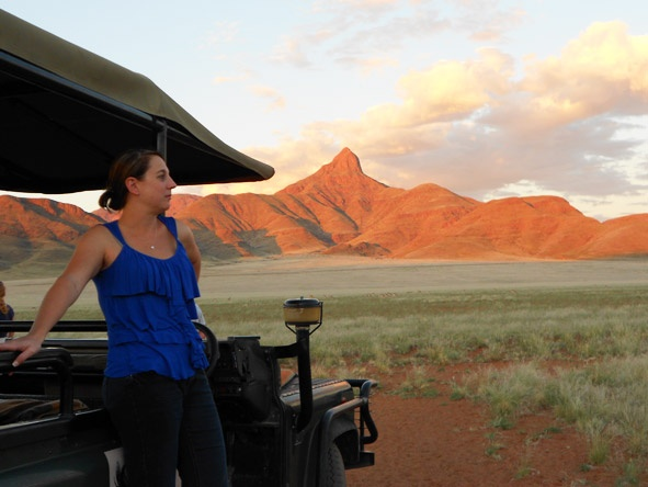 The landscape and scenery of the Namib Naukluft is quite remarkable - Tracy on a Sossusvlei adventure