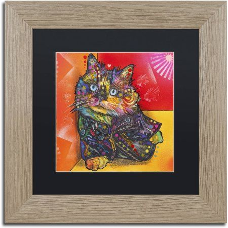 Trademark Fine Art 'Baby Albert' Canvas Art by Dean Russo, Black Matte, Birch Frame, Size: 16 x 16, Assorted