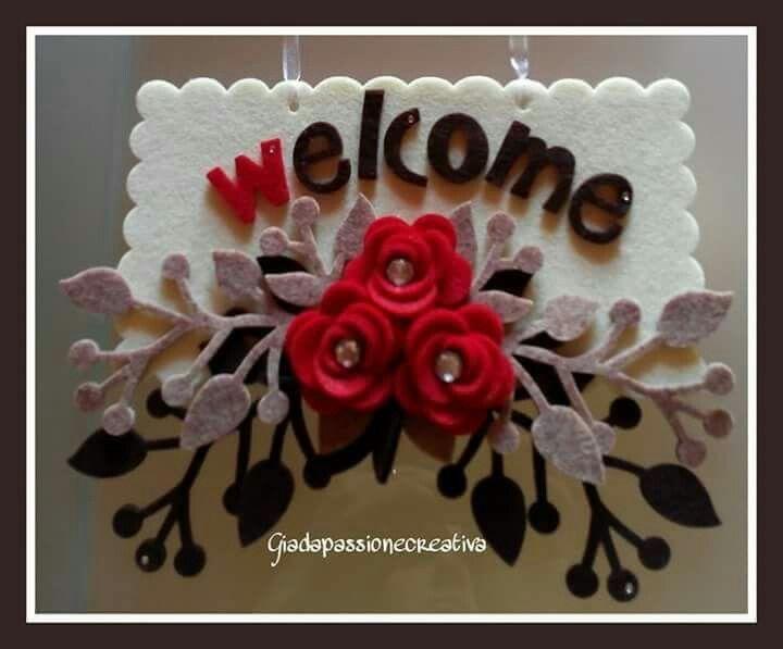 """Targhetta fuori porta """" welcome"""""""