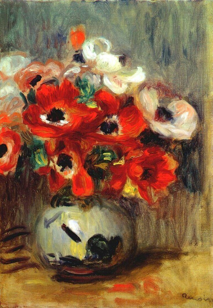 Pierre-Auguste Renoir Anemones More