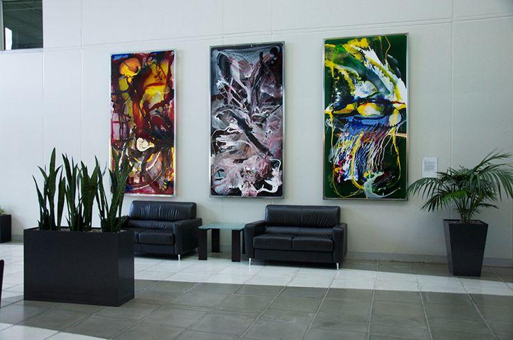 Using artwork to improve corporate image
