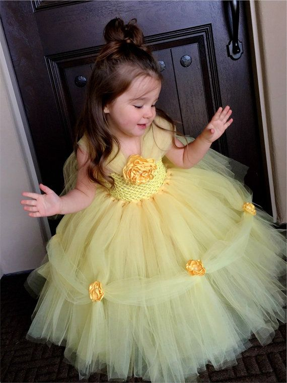 Belle Princess Dress- Princess Dress - Princess Tutu Dress - Disney Costume- Halloween Costume- Beauty and the Beast- Belle Costume