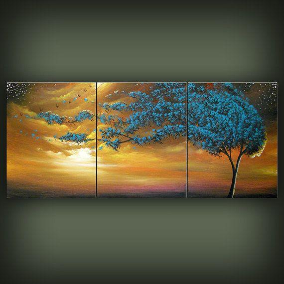 art original painting art abstract art original abstract painting art original abstract painting tree painting acrylic painting 20 x 48