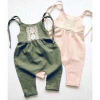 Baby Romper Sunsuit Onesie Boho Playsuit Toddler Girls Boys Jumpsuit Baby Pants