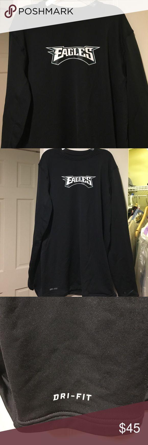 NFL Philadelphia Eagles Dry Fit Sweatshirt Nike Dry Fit Eagles Sweatshirt. Gently used. Nike Jackets & Coats Performance Jackets
