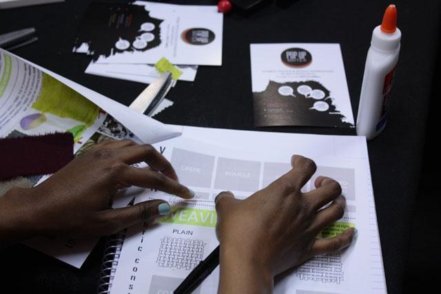 POP-UP BRITEX: Warp x Weft: textile 101 at Workshop SF--building a swatch book!