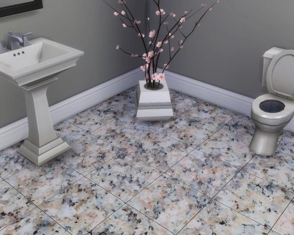 Mod The Sims: Glossy Granite Floor Tiles by Madhox • Sims 4 Downloads