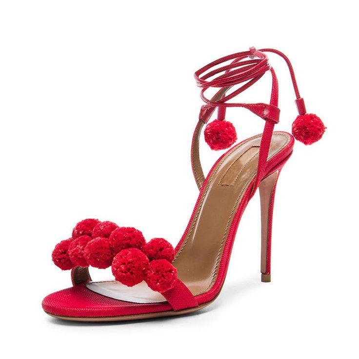 Été Femmes sexy Sandales à talon 7cm pantoufles talons minces Mules Slip Pointu Party Toe Fashion Chaussures Stiletto Ladies Taille lIx0A0HoD