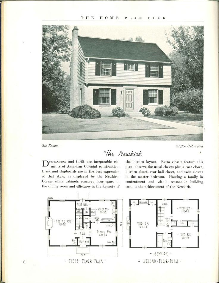 The home plan book 1939 vintage house plans 1930s for Antique house plans