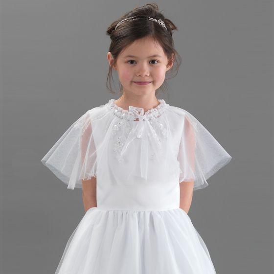 51514b32394e Linzi Jay Communion Jacket Cape 2 | Communion Dress | Communion dresses,  Communion, Cape dress