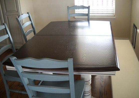 Refinished oak table and chairs How to Refinish and Repair an Oak Dining Room Table and Chairs