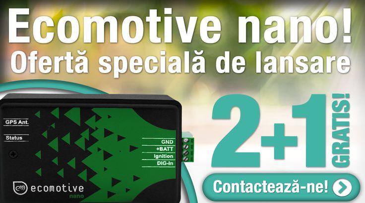 Am lansat ECOMOTIVE NANO – cel mai nou sistem de monitorizare prin GPS oferit de Fomco!  Cu această ocazie, la achiziționarea a 2 dispozitive Ecomotive Nano, îl primiți pe al 3-lea GRATUIT!  Oferta este limitată! Contactați-ne acum!