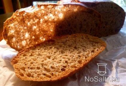 Vadkovászos-tönkölylisztes kenyér