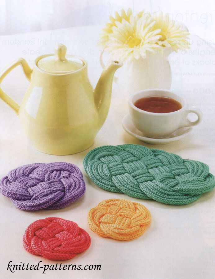 Knotted coasters & trivets: FREE