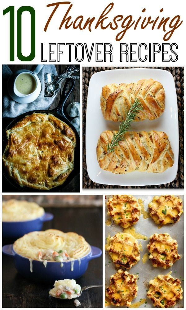 There is so much food on Thanksgiving that there is always some left over. This year you can make a whole new recipe the day after Thanksgiving with one of these Thanksgiving Leftover Recipes. There is a way to make breakfast, lunch, dinner or even dessert with your leftovers.