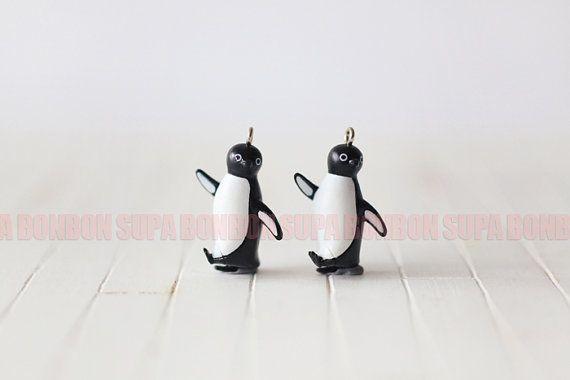 [OSWALD]  2 pcs / Decoden / PVC / Cute / Charm / Penguin by Supabonbonniere2