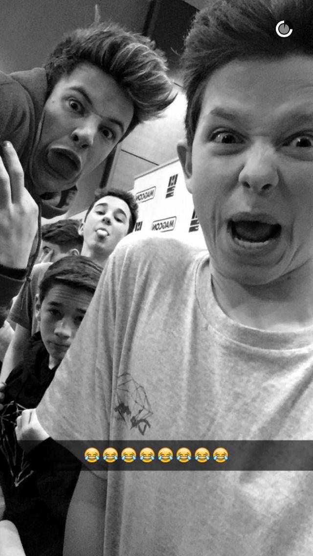 Jacob,Cameron Dallas,Hunter Rowland and Brandon