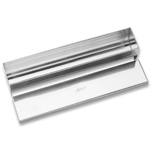 Ateco Stainless Steel Terrine Mold with Cover, Round Bottom, 11.75- by 2.25-Inches