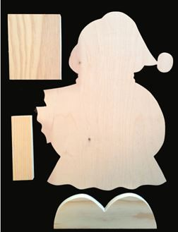 "#703 ""Christmas Ginger Porch Greeter""  (WOOD)"