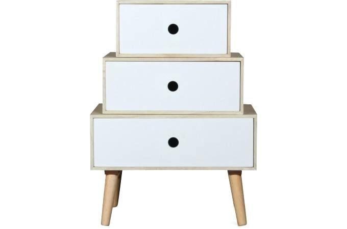 meubles de chevet table de chevet en bois blanc modulable 475x30x64 cocalde table de chevet conforama