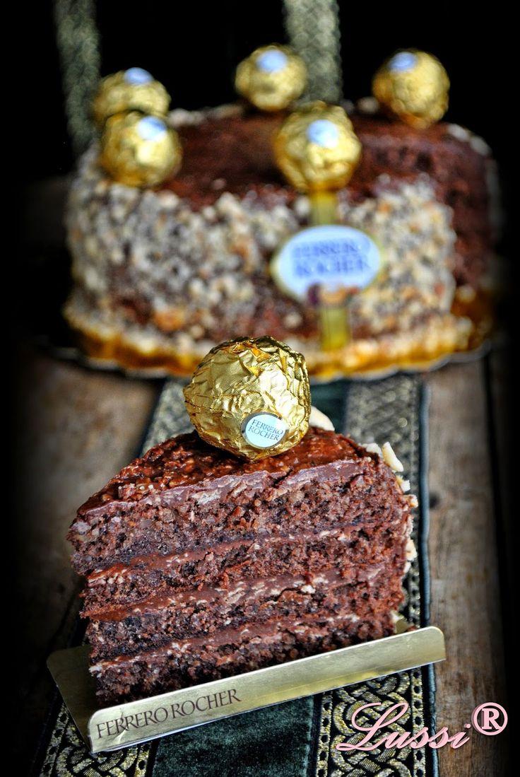 """Lussi`s World of Artcraft: Торта """"Фереро Роше"""" / Ferrero Rocher Cake"""