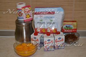 Ингредиенты для приготовления Пасхи на сливках