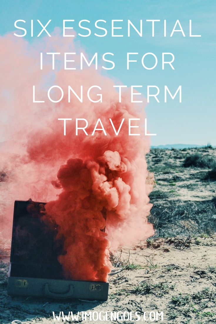 Here are the top six essential items you need for long term travel! After nearly two years of travel, these are the things I can't live without.