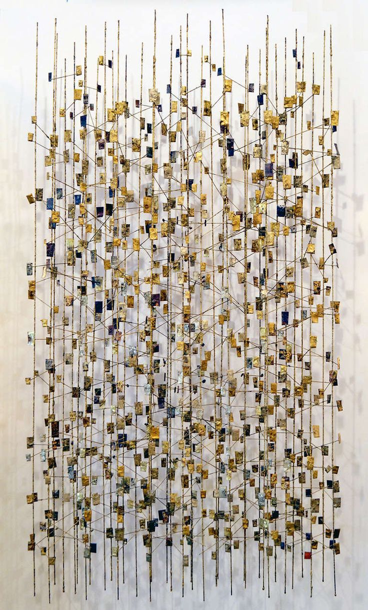 Early and Rare Wall Sculpture by Harry Bertoia | From a unique collection of antique and modern wall-mounted sculptures at http://www.1stdibs.com/furniture/wall-decorations/wall-mounted-sculptures/