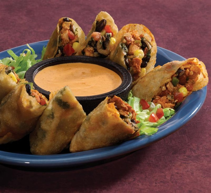 Southwestern eggrolls!  If you don't feel like doing all the work of wrapping and deep frying the eggrolls place the filling in tortillas with extra cheese to make the most awesome quesadilla you will ever have