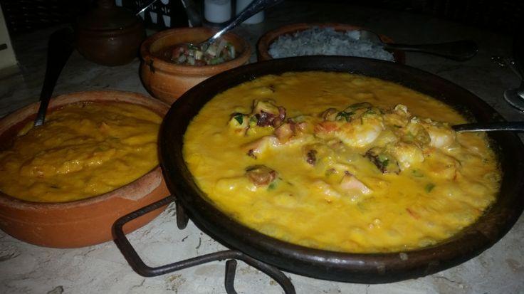 Moqueca Mista. Restaurante da Pousada Passargada - Morro de São Paulo - Bahia
