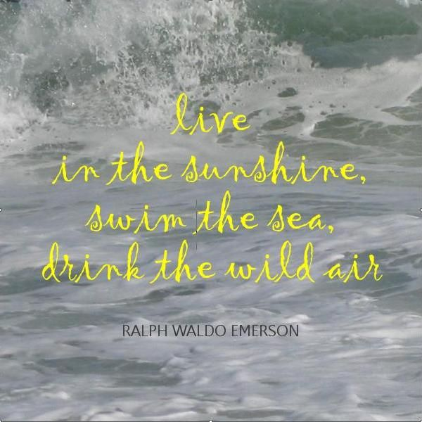 words of wisdomEmerson Quotes, Beach Quotes, At The Beach, Corn Dogs, Ralph Waldo Emerson, Living, Drinks, Senior Quotes, The Sea