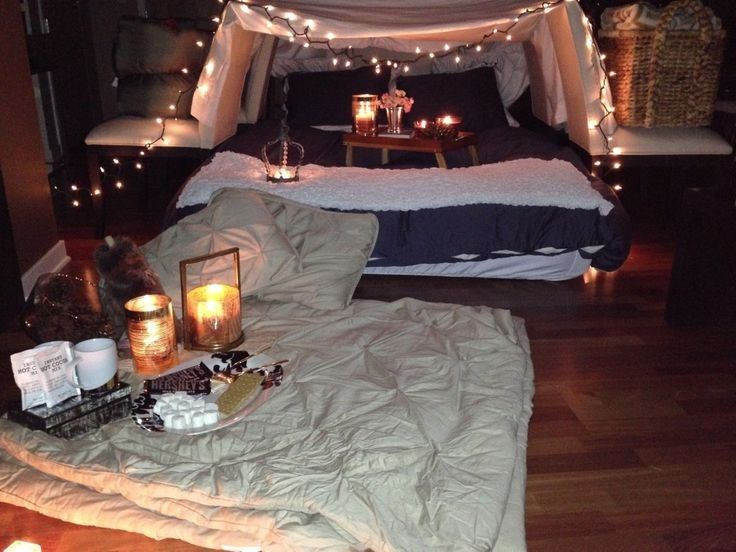 Camping Date Night For TWO, Please! Glamourous Tent Set up