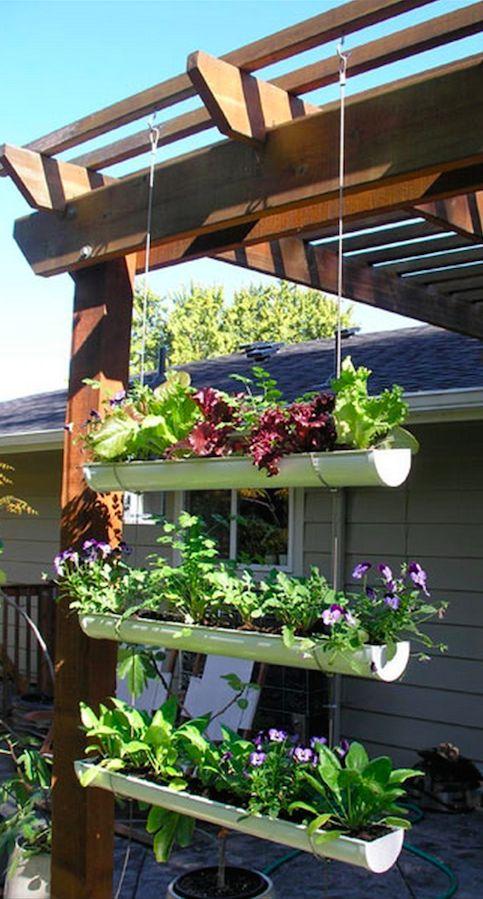 DIY hanging gutter garden • tutorial: Owner Builder Network