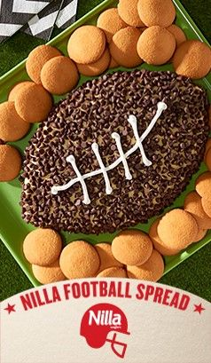 The only thing sweeter than  victory on game day is a luscious dessert with layers of flavor. This recipe for NILLA  Football Spread is the play to run if you want to impress with your football desserts at the Big Game party.