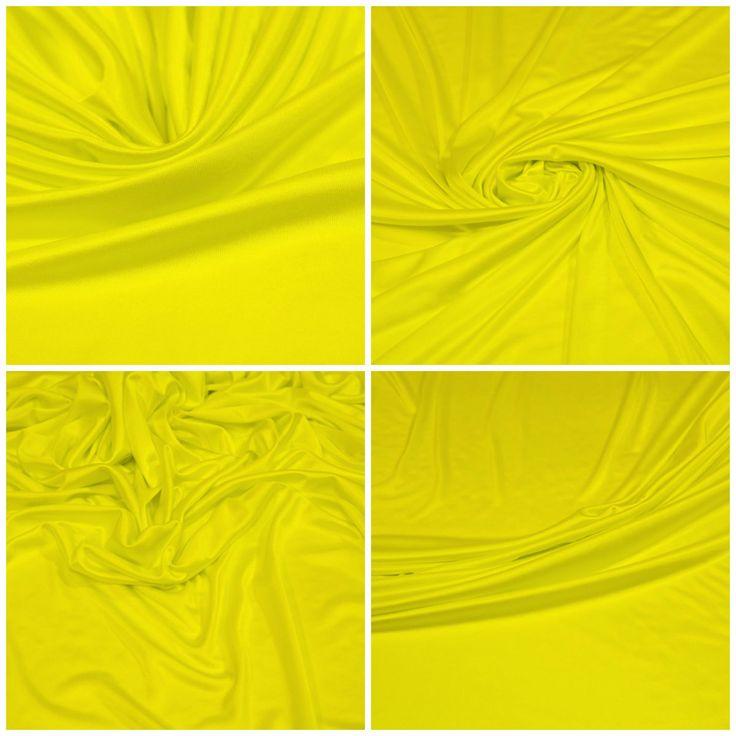 """Трикотаж арт. 03-001-0513 Ширина: 135 см, плотность: 150г/м2 Цвет: """"Желтый электрик"""" Состав ткани: 100% вискоза Назначение: Блузки, платья """" Холодная вискоза"""". Интерлок. Поверхность гладкая и прохладная на ощупь, полотно подвижное и струящееся. Цвет яркий. #трикотаж#100% вискоза#блузочная#плательная#интерлок#холодная вискоза#tutti-tessuti"""