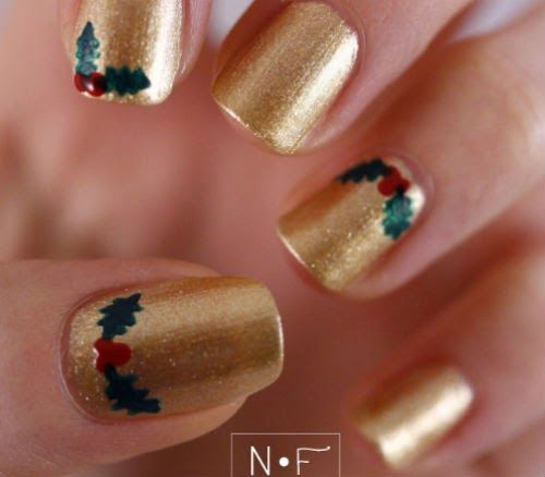 Best 25 christmas manicure ideas on pinterest xmas nail - Unas decoradas faciles ...