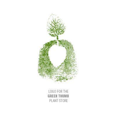 Green Thumb plant store logo design | Logo Design Gallery ...
