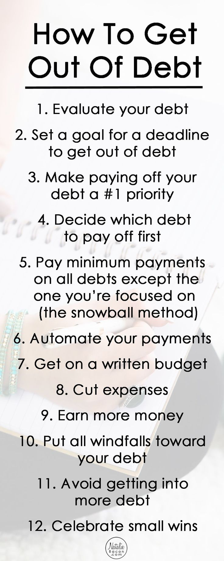 How to get out of debt - a 12 step guide | Natalie Bacon