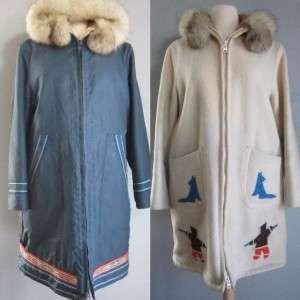 Vtg Hudson Bay Company Womans Eskimo Inuvik Parka Coat Wool