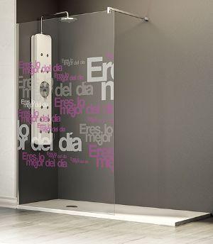 #lavorincasa : la raffinata e #minimal #docciawalkin , una soluzione senza porte per ampliare la sensazione di #spazialità