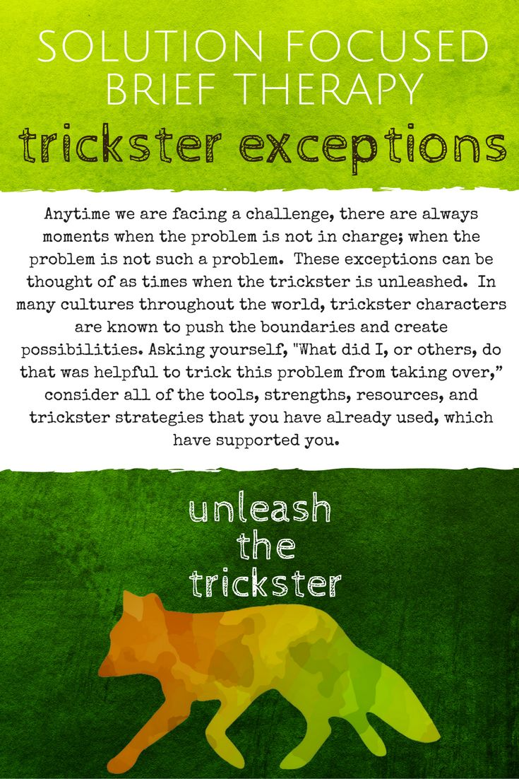 Solution Focused Brief Therapy Intervention: Trickster Exceptions as found in Solution Focused Counseling Toolbox